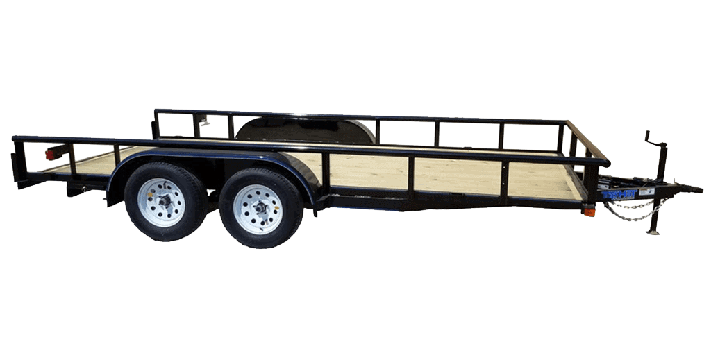 Top Hat Medium Pipe Utility Tandem Axle Landscape Trailer 1.2