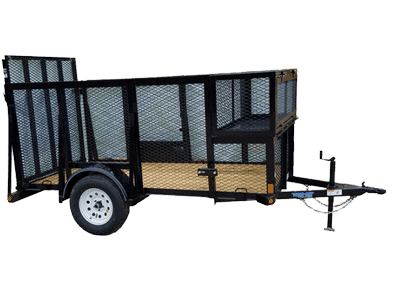 Top Hat Mini Landscaper Single Axle Utility Trailer 1
