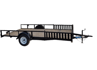 Top Hat Quad Hauler Single Axle Utility Trailer 1
