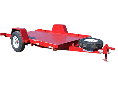 Top Hat SA Equipment Tilt Single Axle Utility Trailer 1