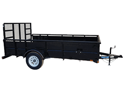 Top Hat Single Axle Utility Trailer 1