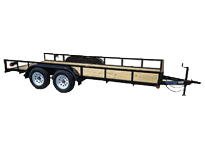 Top Hat Tandem Axle Landscape Trailer 1