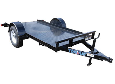 Top Hat Weld Machine Single Axle Utility Trailer 1