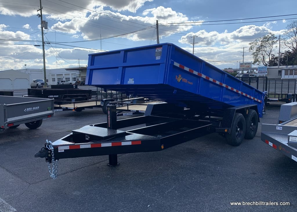 BWISE BLUE AND BLACK DUMP TRAILER FOR SALE NEAR ME BRECHBILL TRAILER SALES