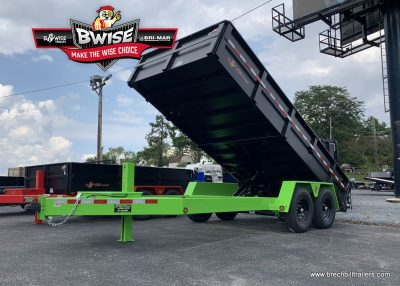 Limegreen and htone black bwise dump trailer for sale near me