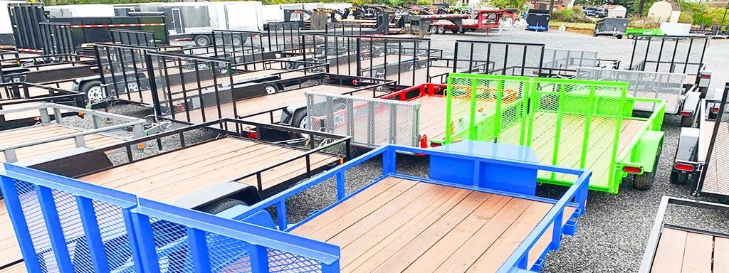 Home Page Slider - Utility Trailers Colors Blue Lime Green Red - Bri-Mar 1.0