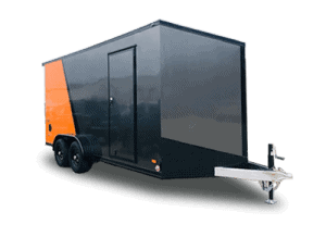 Bravo Orange Charcoal Slant V Nose Bravo Trailer