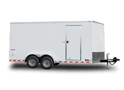 White Bravo Enclosed Trailer