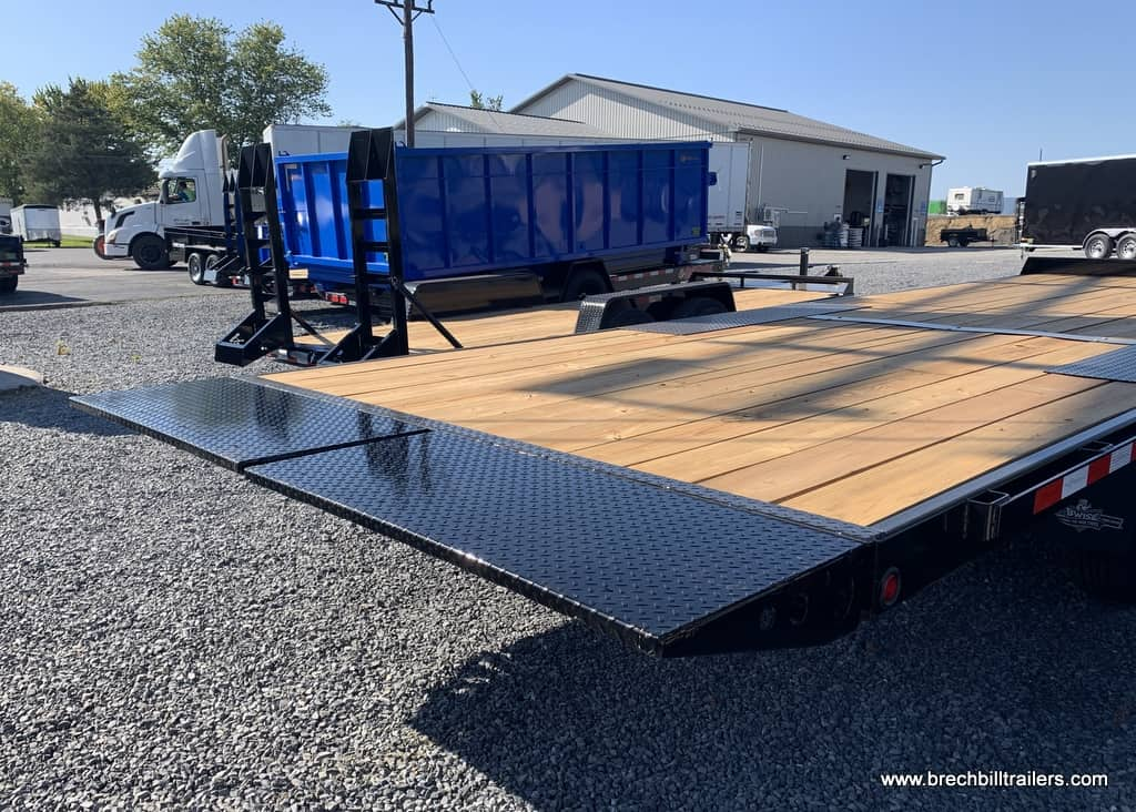 BLACK AND HTONE GRAY STEEL BWISE TILTING DECK TRAILER FOR SALE NEAR ME