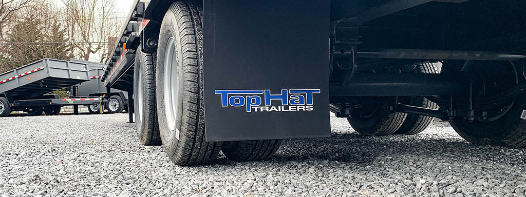 Home Page Slider - TopHat Trailer mud flaps logo shot 2.1