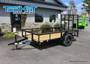 TopHat Tandem Axle Pipe Utility Trailer 83x20'x7K (MP20X83-7E-R), BLACK, BLACK WHEEL, FLUSH LED
