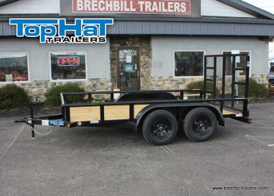 Black Utility TopHat Tandem Axle Trailer