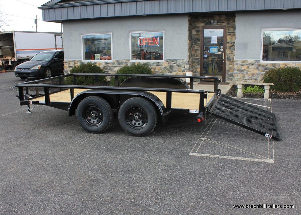 Black Utility TopHat Tandem Axle Trailer