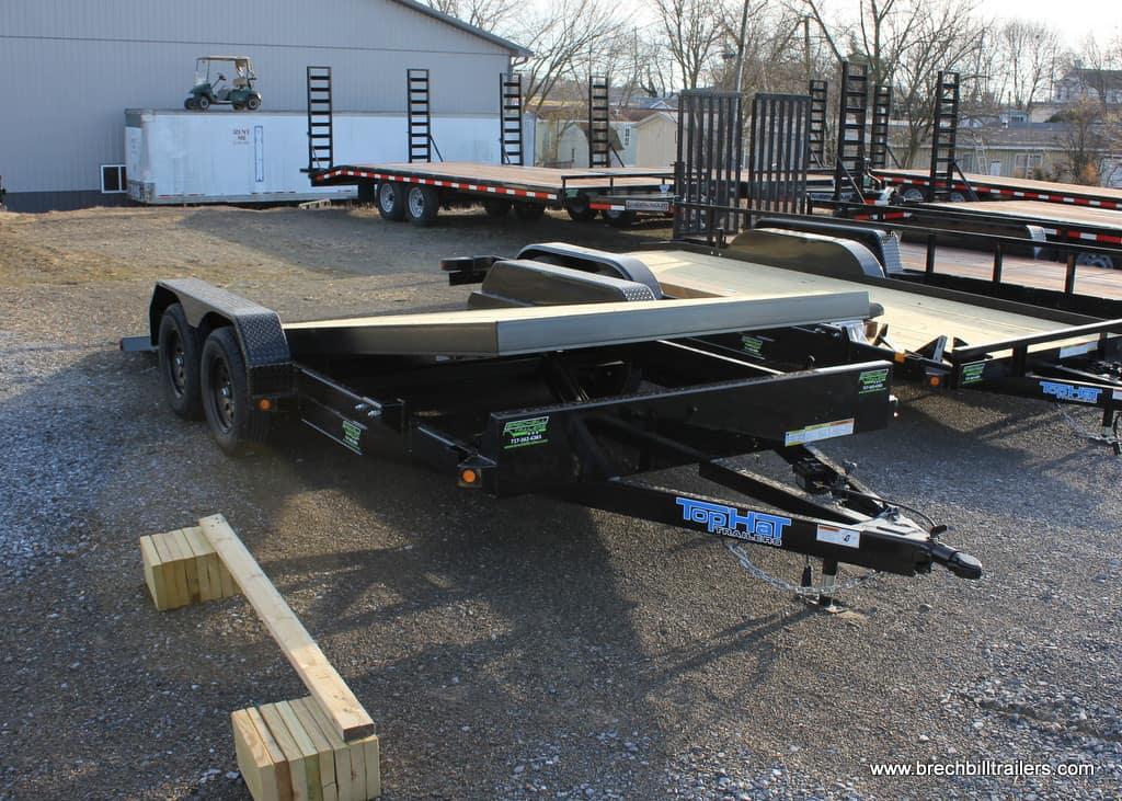TopHat Tilt Deck Car Hauler Trailer TCH70-18x83-7E-R