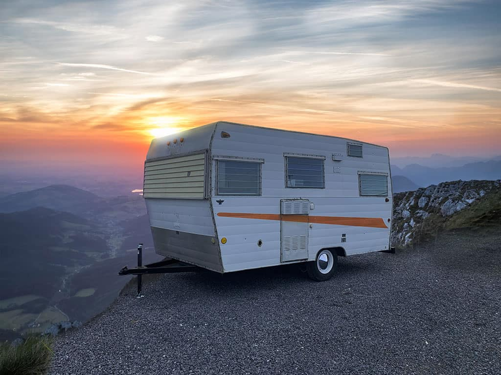 Little White Camper Trailer RV