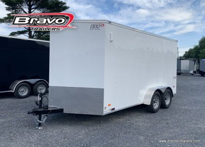 WHITE BOX ENCLOSED CARGO TRAILER FOR SALE