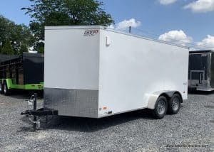 WHTIE BOX ENCLOSED CARGO TRAILER V NOSE FOR SALE