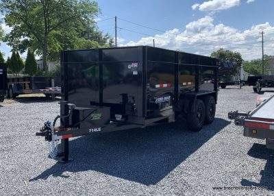 BLACK BRI-MAR HIGH SIDE DUMP TRAILER FOR SALE