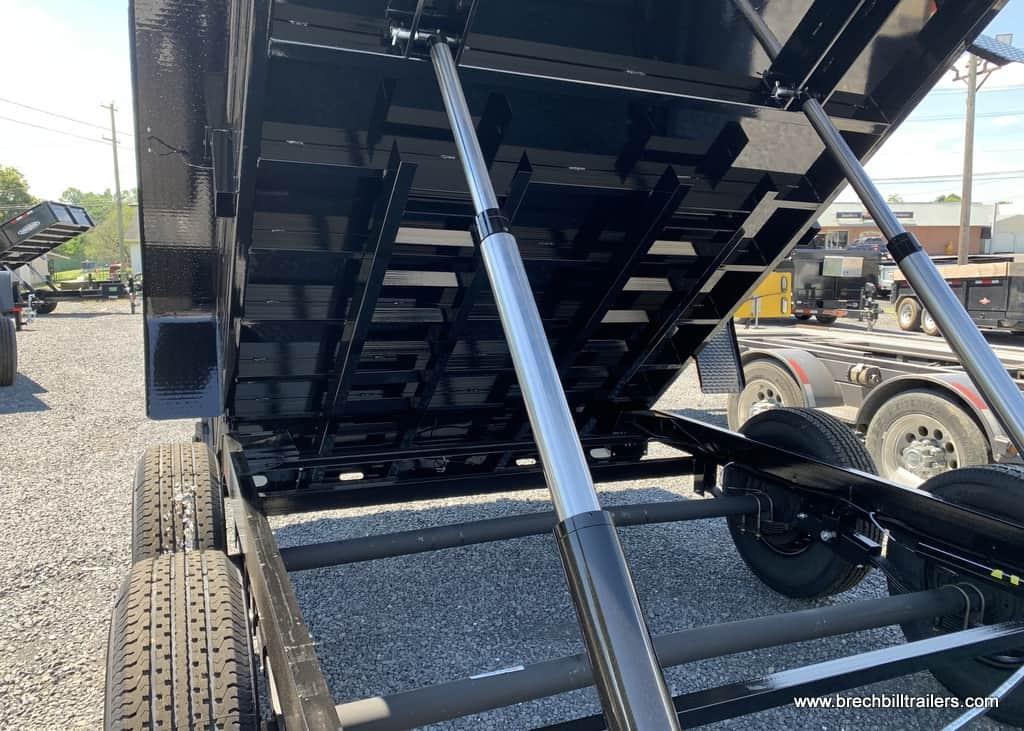 BLACK BRI-MAR HIGH SIDE DUMP TRAILER FOR SALE