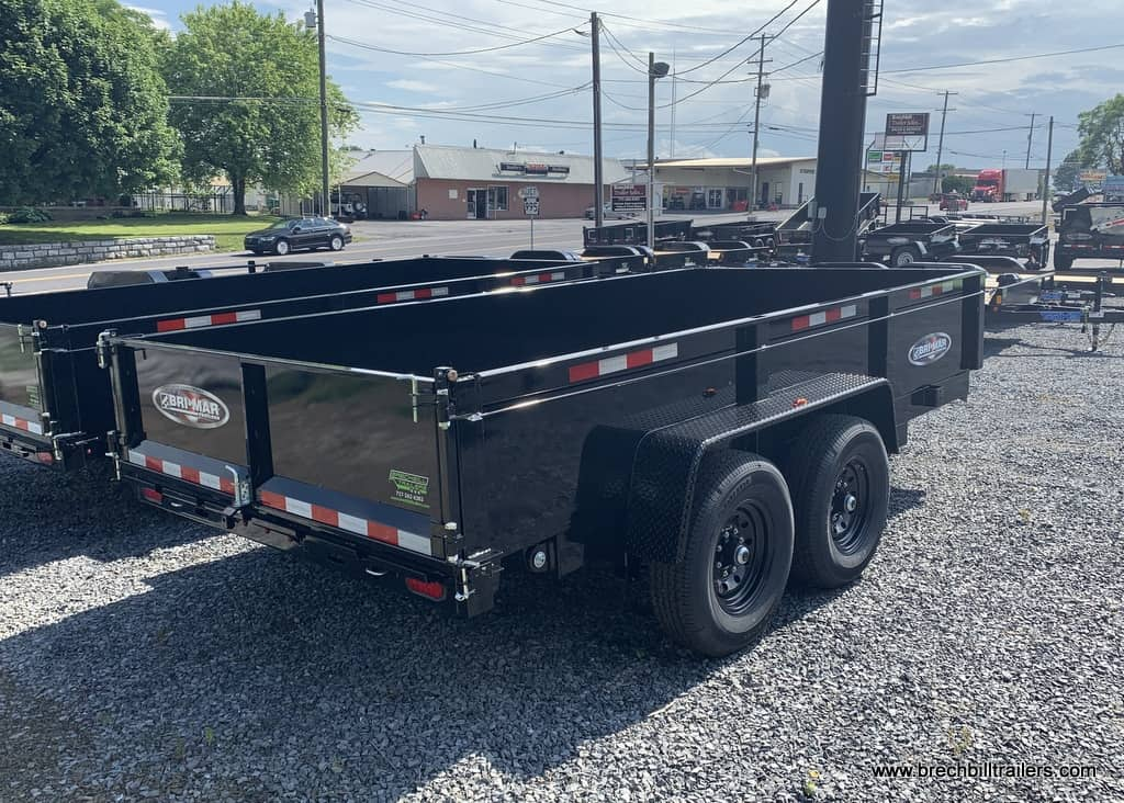 Black dump trailer for sale