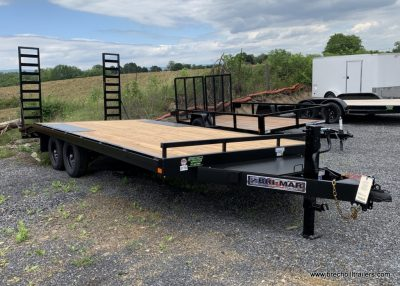 BLACK DECK OVER EQUIPMENT TRAILER FOR SALE