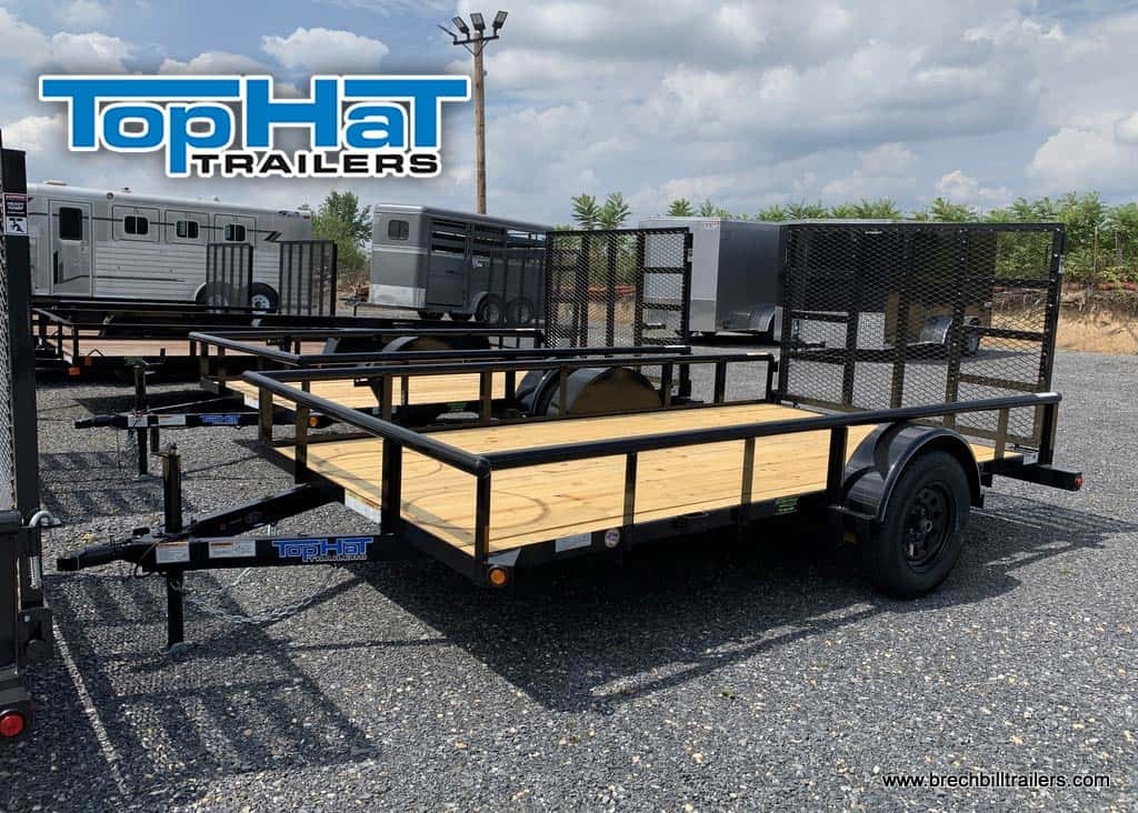 BLACK UTILITY TRAILER FOR SALE NEAR ME STEEL TOPHAT