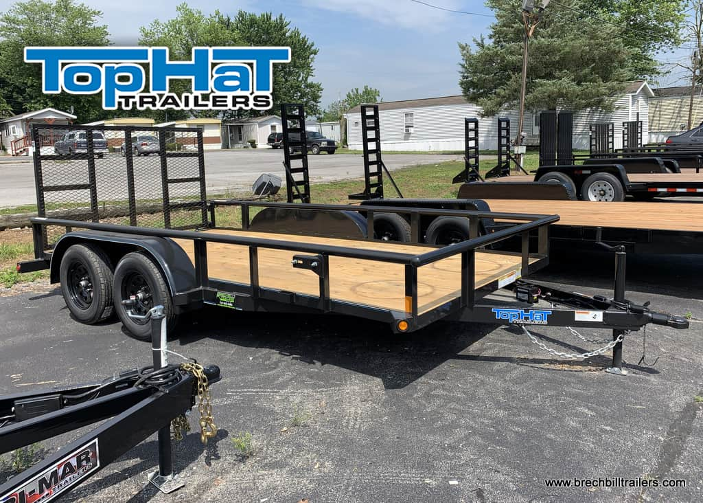 Gray Utility Trailer For Sale Top Hat Trailers