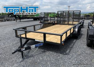 TOPHAT UTILITY LANDSCAPE TRAILER FOR SALE BLACK PIPE