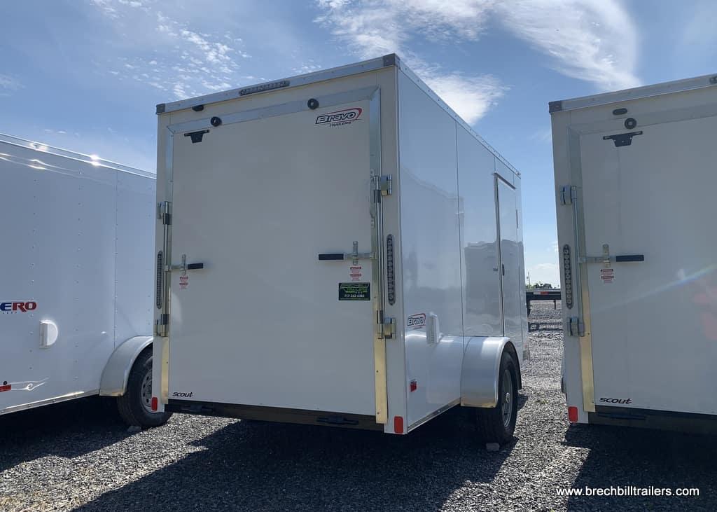 WHITE ENCLOSED CARGO BOX TRAILER FOR SALE NEAR ME