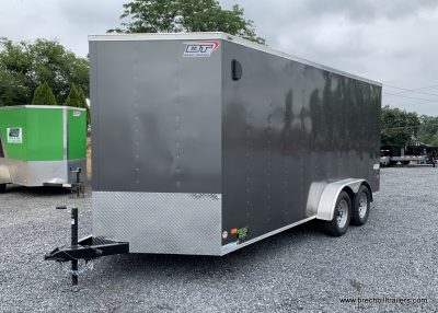 BOX ENCLOSED CARGO TRAILER FOR SALE GRAY