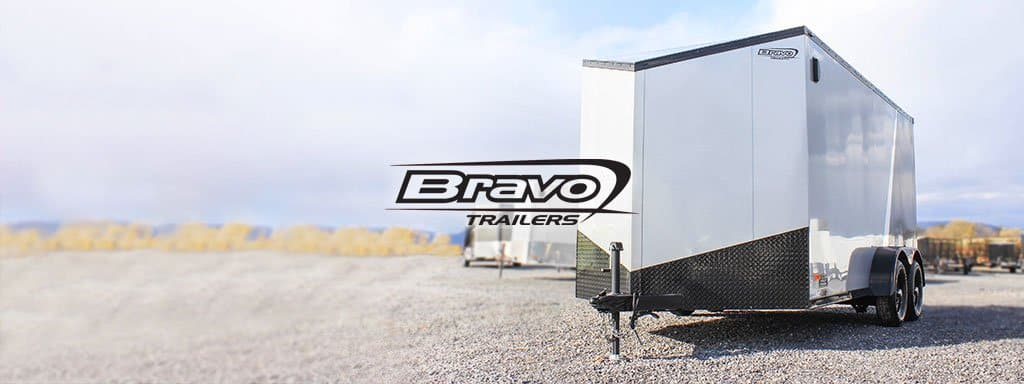 Home Page Slider - Bravo Scout Enclosed Trailer SC714TA2 Black Out PKG