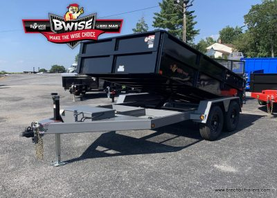 BLACK AND GRAY BWISE DUMP TRAILER FOR SALE NEAR ME