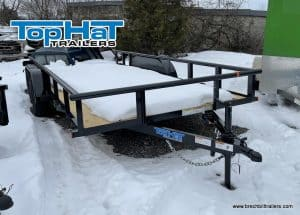 BLACK STEEL UTILITY LANDSCAPE TRAILER FOR SALE NEAR ME