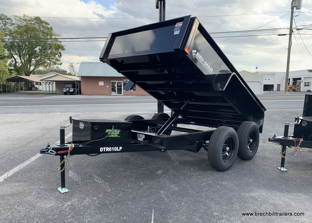 BLACK BRI-MAR DUMP TRAILER FOR SALE NEAR ME DUMPER