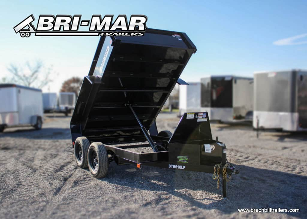 BLACK BRI-MAR DUMPER DUMP TRAILER FOR SALE NEAR ME STEEL