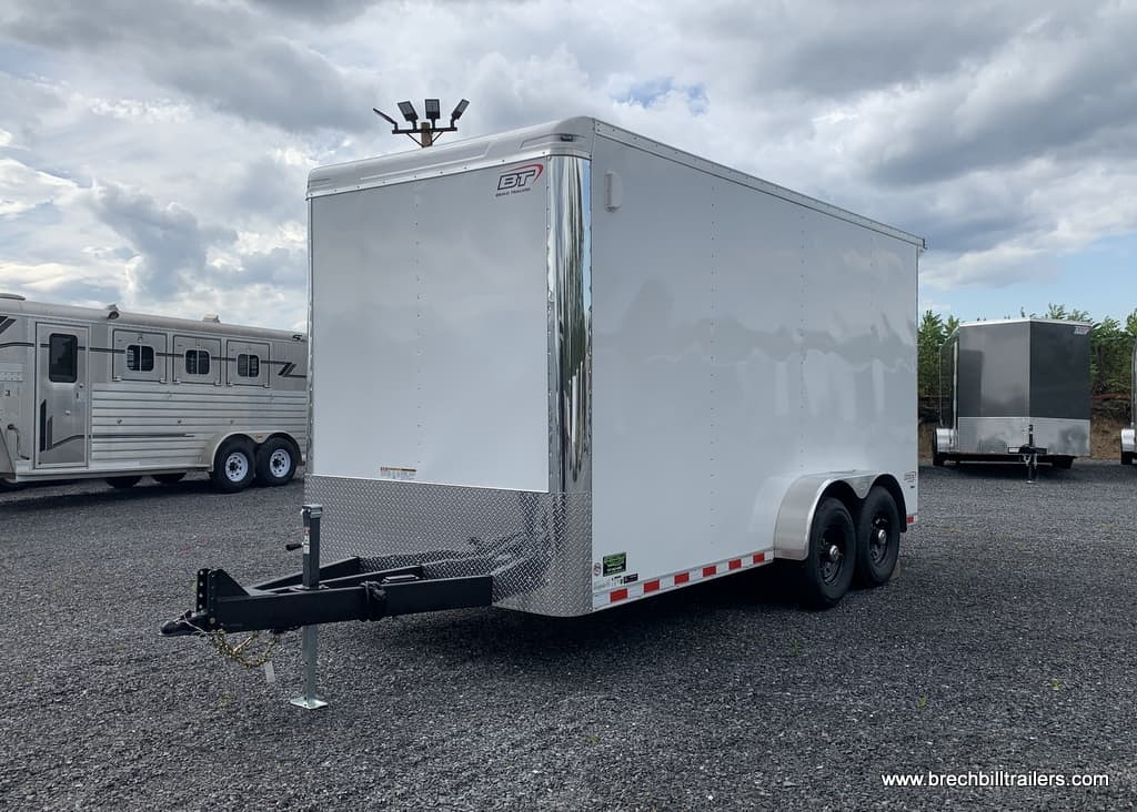 WHITE FLAT NOSE ENCLOSED CARGO TRAILER FOR SALE NEAR ME