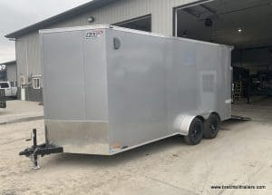 ENCLOSED TRAILER FOR SALE NEAR ME 30 V NOSE, SCOUT PKG, BLACK WHEELS, RAMP DOOR