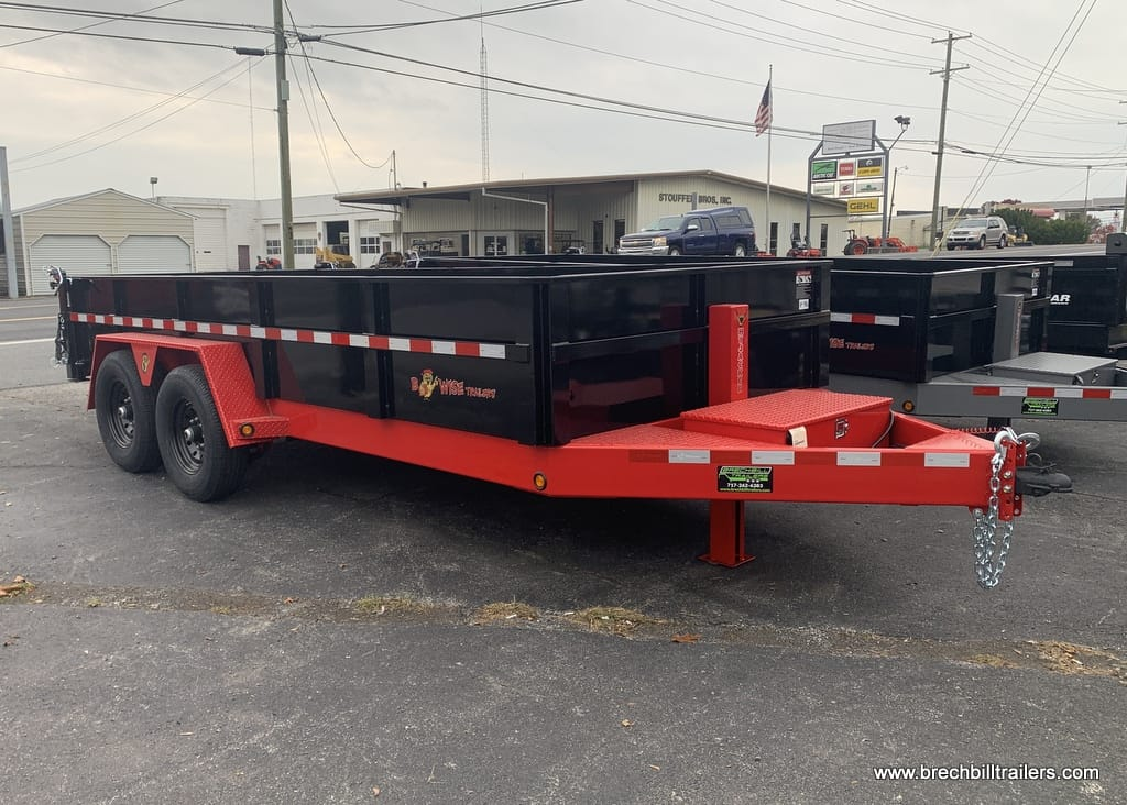 BWISE BLACK AND RED DUMP TRAILER FOR SALE NEAR ME
