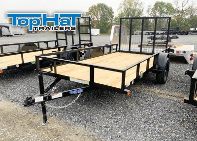 UTIITY LANDSCAPE TRAILER BLACK STEEL FOR SALE NEAR ME
