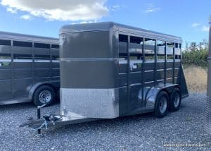 CHARCOAL GRAY LIVE STOCK TRAILER FOR SALE NEAR ME