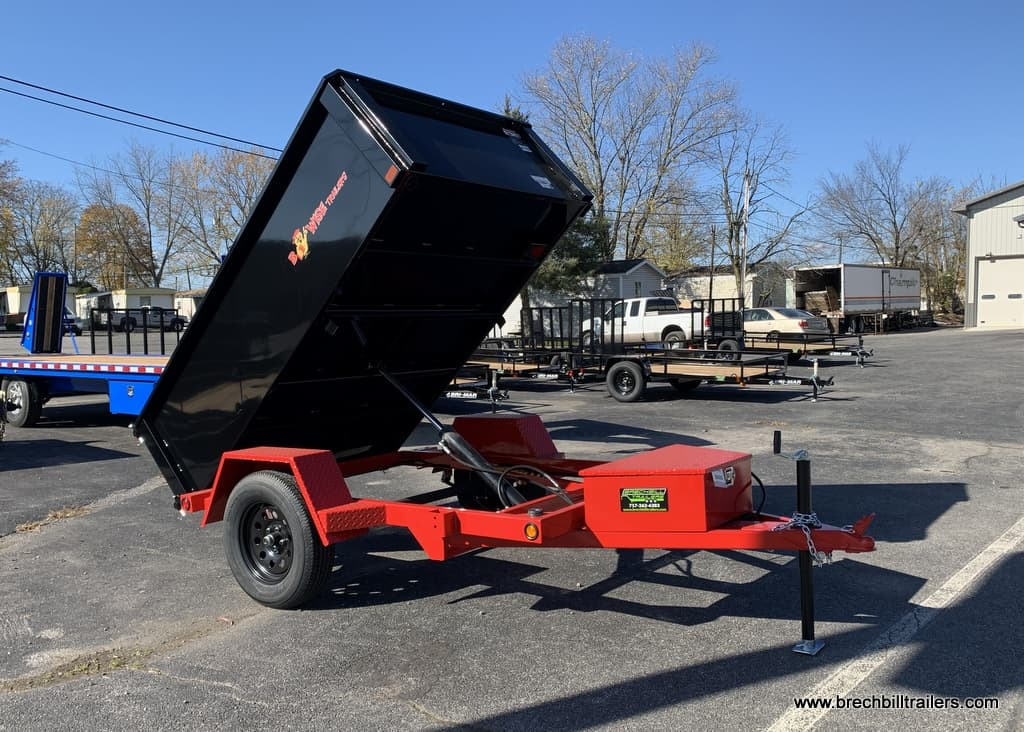 BLACK AND RED BWISE STEEL DUMP TRAILER FOR SALE NEAR ME