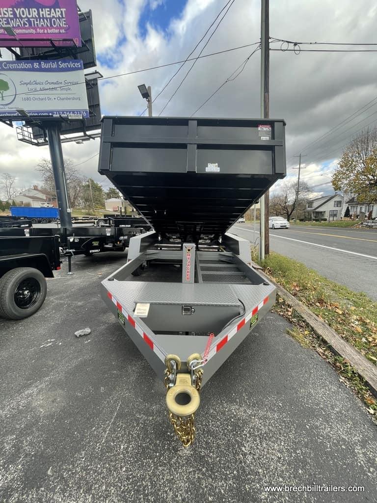 STEEL DUMP TRAILER BLACK AND HTONE GRAY ALUMINUM RAMPS