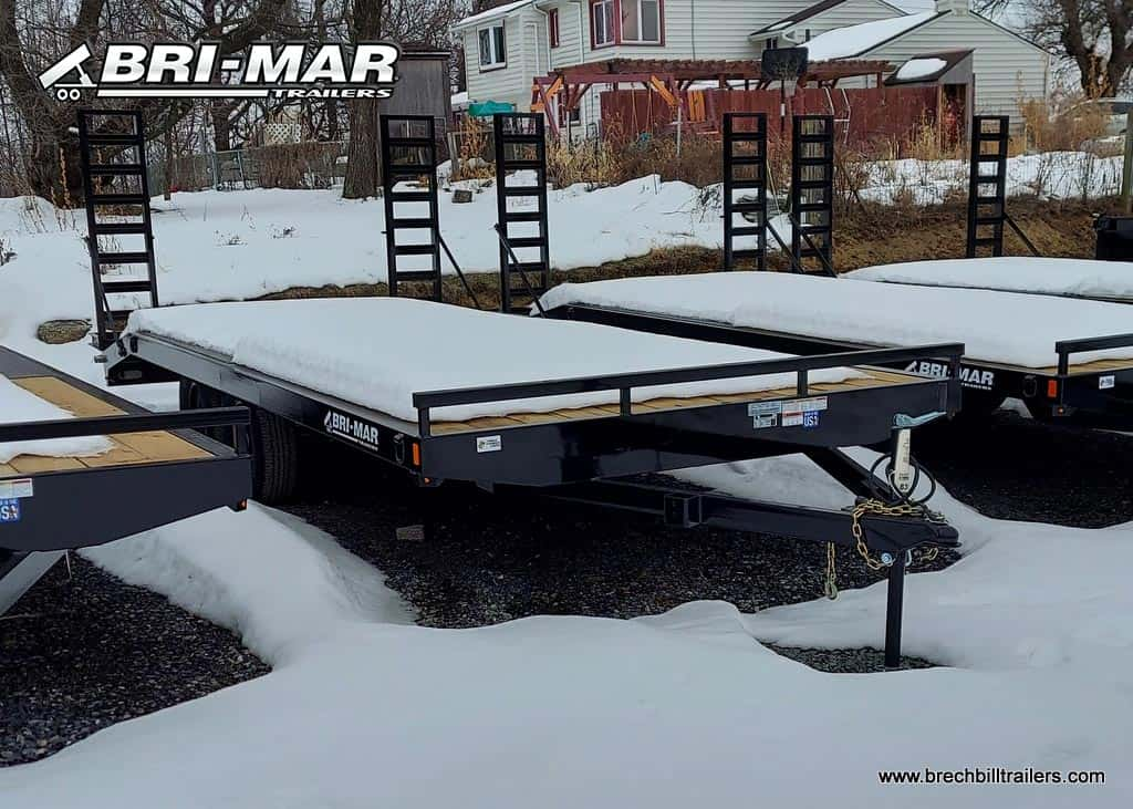 BRI-MAR DECKOVER TRAILER FOR SALE WITH BLACK MOD WHEELES