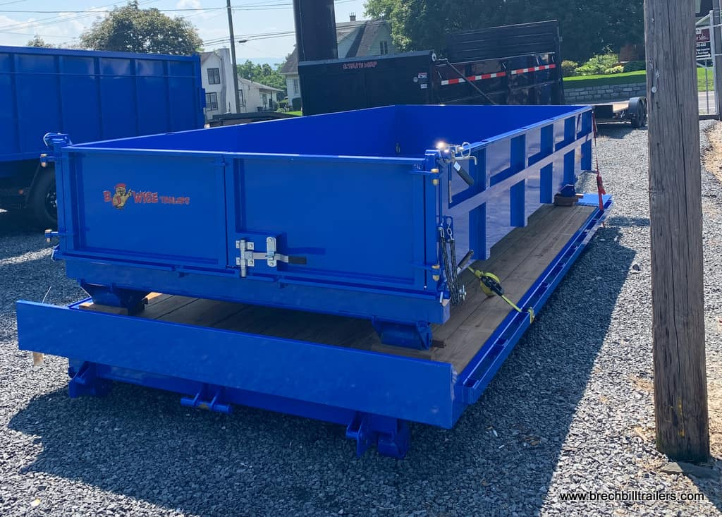 Steel dump tilt dumpster roll off beds attachments trailer for sale near me