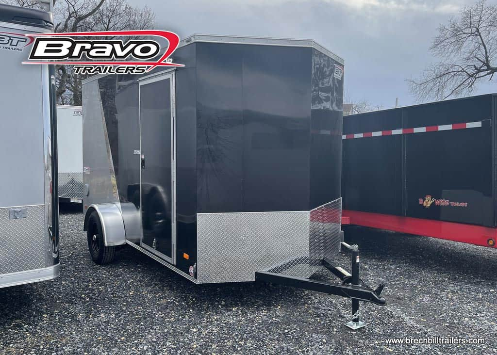 6 EXTRA, 18 V NOSE, SCOUT PLUS, BLACK AND SILVER CARGO TRAILER FOR SALE