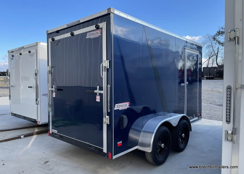 ENCLOSED BOX CARGO STEEL BLUE TRAILER FOR SALE