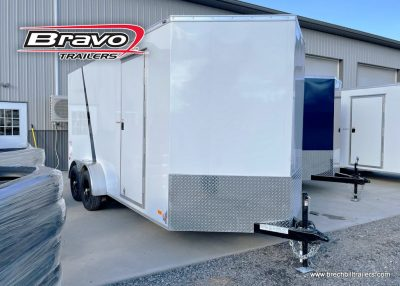 WHITE ENCLOSED BOX CARGO TRAILER FOR SALE