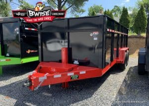 black and red dump trailer steel trailers for sale
