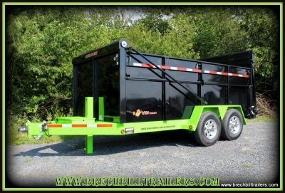BLACK AND LIME GREEN BWISE DUMP TRAILER FOR SALE NEAR ME