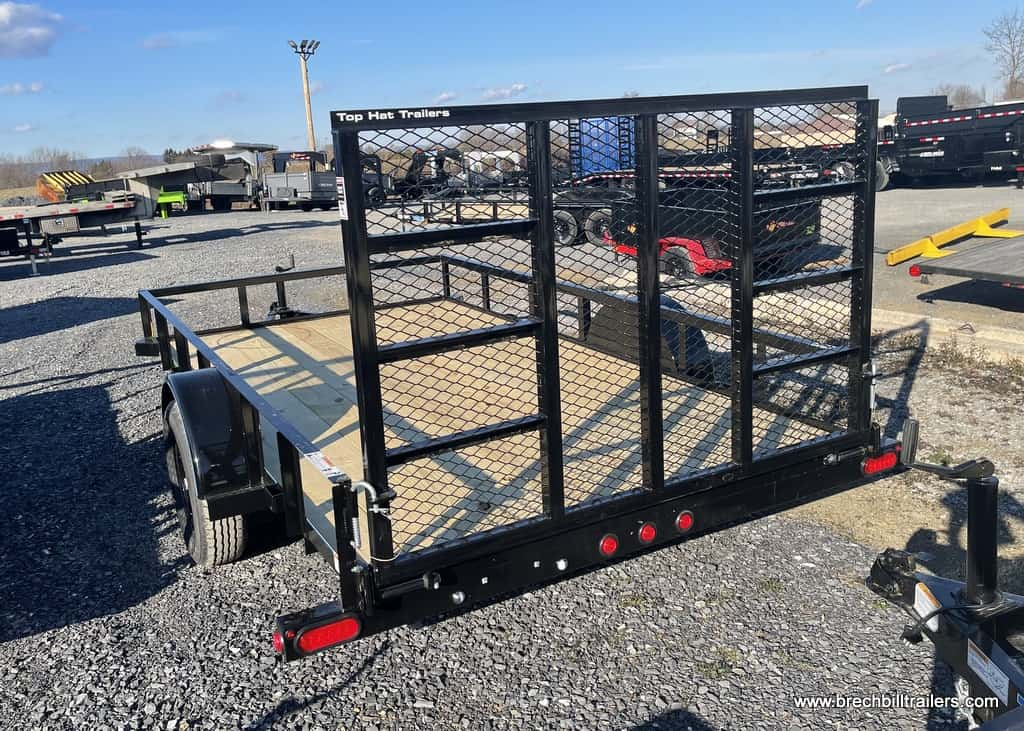BLACK STEEL UTILITY LANDSCAPE SMALL TRAILER FOR SALE